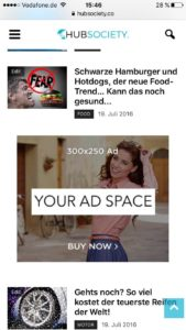 Mobile Ads Homepage Middle Banner Beispiele